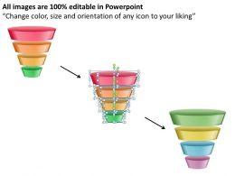 Four Levels Of Filter Sales Funnel Split Separated Ppt Slides Presentation Diagrams Templates Powerpoint