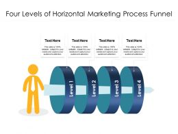 Four Levels Of Horizontal Marketing Process Funnel