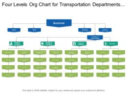 Four Levels Org Chart For Transportation Departments With Icons