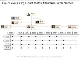 Four Levels Org Chart Matrix Structure With Names And Profile