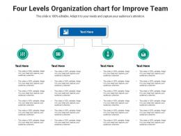 Four Levels Organization Chart For Improve Team Infographic Template