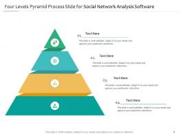 Four Levels Pyramid Process Slide For Social Network Analysis Software Infographic Template