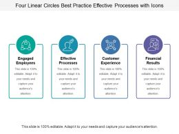 Four Linear Circles Best Practice Effective Processes With Icons