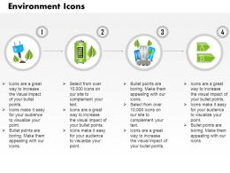 Four Linear Icons Of Green Energy With Battery Cfl And Plug Symbols Editable Icons