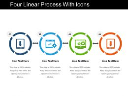 Four Linear Process With Icons