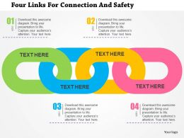 four_links_for_connection_and_safety_flat_powerpoint_design_Slide01