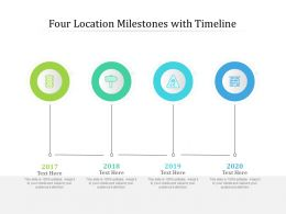 Four Location Milestones With Timeline