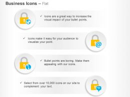 four_locks_global_safety_management_ppt_icons_graphics_Slide01