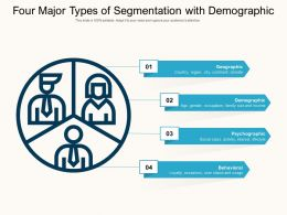 Four Major Types Of Segmentation With Demographic