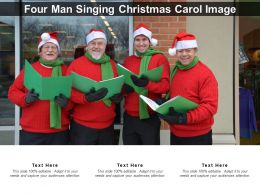Four Man Singing Christmas Carol Image