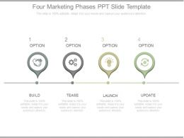 Four Marketing Phases Ppt Slide Template