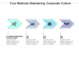 Four Methods Maintaining Corporate Culture Ppt Powerpoint Presentation Model Cpb