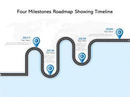 Four Milestones Roadmap Showing Timeline