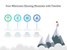 Four Milestones Showing Mountain With Timeline