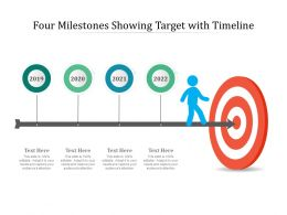 Four Milestones Showing Target With Timeline