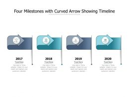 Four Milestones With Curved Arrow Showing Timeline