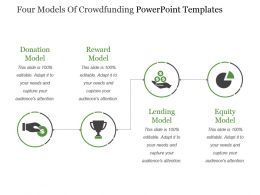 Four Models Of Crowdfunding Powerpoint Templates