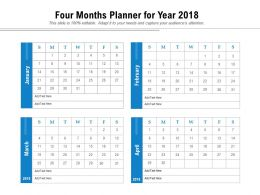 Four Months Planner For Year 2018