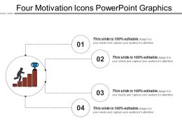 Four Motivation Icons Powerpoint Graphics