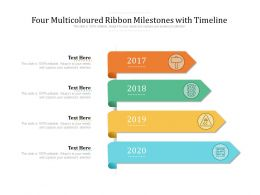 Four Multicoloured Ribbon Milestones With Timeline