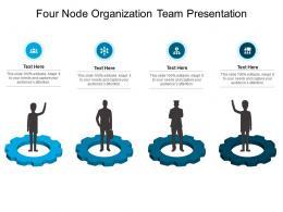 Four Node Organization Team Presentation Infographic Template