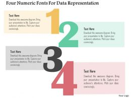 Four Numeric Fonts For Data Representation Flat Powerpoint Design