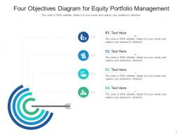 Four Objectives Diagram For Equity Portfolio Management Infographic Template