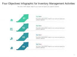 Four Objectives For Inventory Management Activities Infographic Template