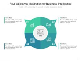 Four Objectives Illustration For Business Intelligence Infographic Template
