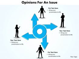 four opinions for an issue arrows pointing in directions powerpoint diagram templates graphics 712