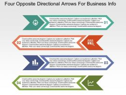 Four Opposite Directional Arrows For Business Info Flat Powerpoint Design