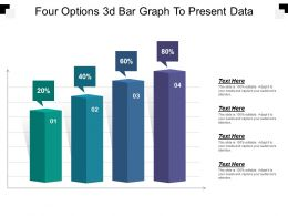Four Options 3d Bar Graph To Present Data