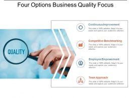 Four Options Business Quality Focus