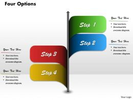 Four Options Diagram For PowerPoint Template Slide