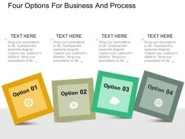 four_options_for_business_and_process_flat_powerpoint_design_Slide01