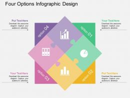 Four Options Infographic Design Flat Powerpoint Desgin