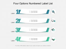 Four Options Numbered Label List