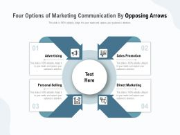 Four Options Of Marketing Communication By Opposing Arrows