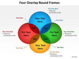 four overlay round frames venn diagrams powerpoint diagram templates graphics 712