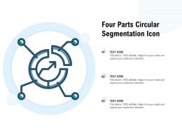 Four Parts Circular Segmentation Icon