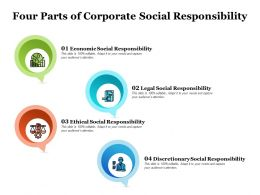 Four Parts Of Corporate Social Responsibility