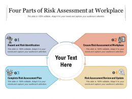 Four Parts Of Risk Assessment At Workplace