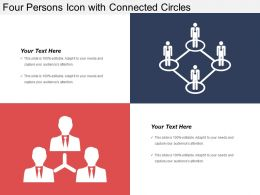 Four Persons Icon With Connected Circles