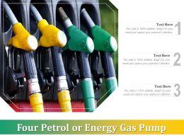 Four Petrol Or Energy Gas Pump