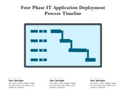 Four Phase IT Application Deployment Process Timeline