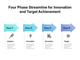 Four Phase Streamline For Innovation And Target Achievement