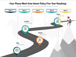 Four Phase Work From Home Policy Five Year Roadmap