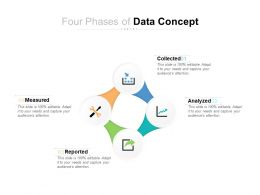 Four Phases Of Data Concept