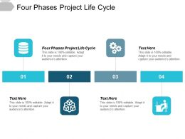 Four Phases Project Life Cycle Ppt Powerpoint Presentation File Introduction Cpb