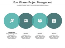 Four Phases Project Management Ppt Powerpoint Presentation Outline Visuals Cpb